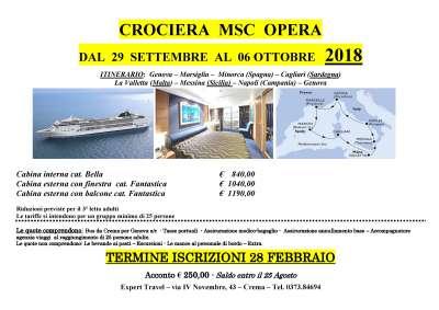 Locandina CROCIERA MSC OPERA - 2018